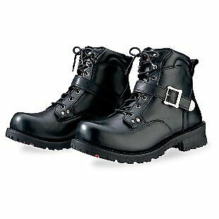 ce8dbf647c8f Z1R Trekker Leather Motorcycle Boots - Black   Size 7.5