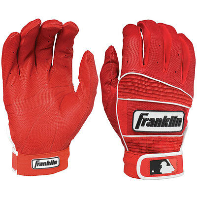 Franklin Neo Classic II Adult Baseball Batting Gloves - Red - Large