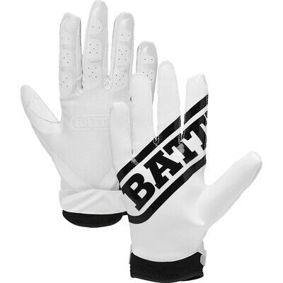 Battle Sports Science Receivers Ultra-Stick Football Gloves - White/White