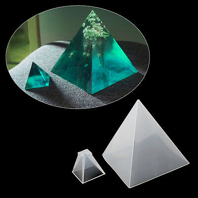 Crystal Jewelry Mold Pendant Pyramid Silicone Ornaments Resin Hand Making Tool