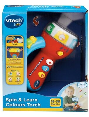 New Vtech Baby Red Spin & Learn Colours Torch Vt80-185903