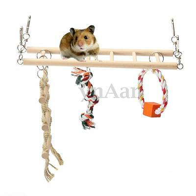 Hamster Mouse Gerbil Pet Cage Hanging Suspension Bridge Ladder Play Exercise Toy
