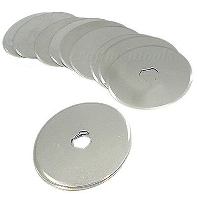 10pc 45mm Rotary Cutter Refill Blades Patchwork Leather Sew Sewing Quilting Tool