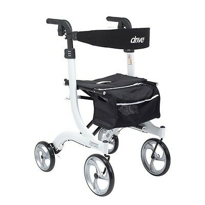 Drive Medical RTL10266WT-T Nitro Euro Style Walker Rollator, Tall, White NEW