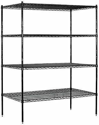 "Salsbury Industries Stationary Wire Shelving Unit,60"" Wide ,74"" High, 24""Deep"