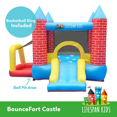 Inflatable Trampoline Bounce House Slide Jump Toy Bouncefort Castle lifespan kid