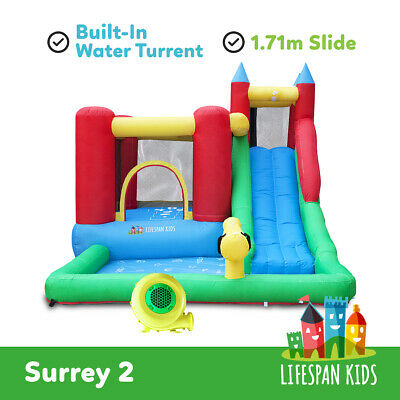 Inflatable Trampoline Bounce House Jump Toy Surrey Slide & Splash lifespan kids