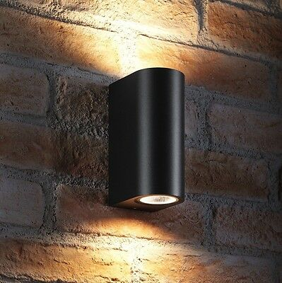 Auraglow IP44 Indoor / Outdoor Double Up & Down Wall Light - LED bulbs Included