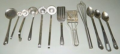 LOT Commercial Cooking Utensils Vollrath Stainless Ladle Wisk Spatula Ricer MORE