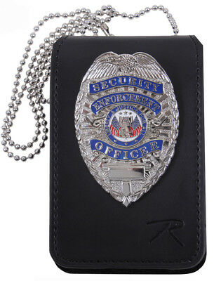 detective badge id holder leather universal design rothco 1136