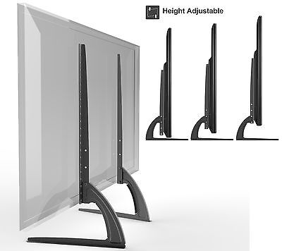 """HTA327 Universal Table Top TV Stand Legs for Samsung 37""""-65"""" Height Adjustable"""