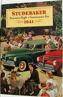 1941 Studebaker President 8 & Commander 6 Color Sales Brochure Original