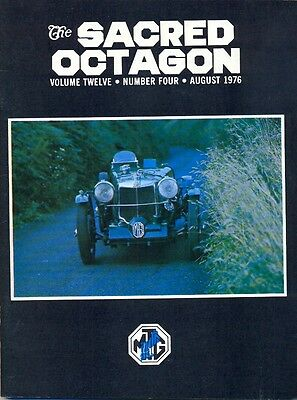 MG T Register of New England - Sacred Octagon magazine August 1976