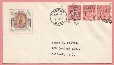 1930 #682 Massachusetts Bay Colony 2C Fdc Unknown Label Cachet Cover 3