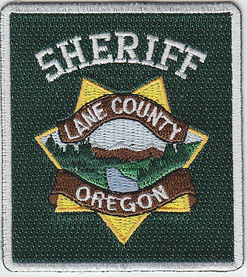 Lane County Oregon Sheriff MINI/HAT PATCH Rectangle Version OR police