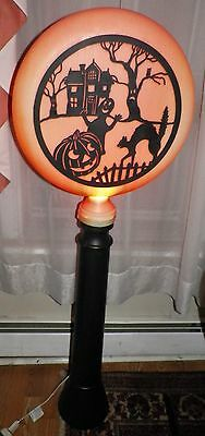 "54"" UNION 1991 Halloween Silhouette Blow Mold Light Lamp Post"