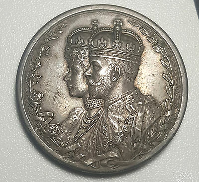 India Delhi Durbar Medal 1911 Sterling Silver George V Only 26,800 Ever Issued
