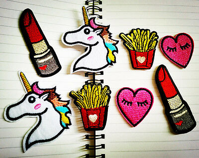 Fashion Cute Cartoon Heart Embroidery Iron on Patch Sewing Applique DIY Motif