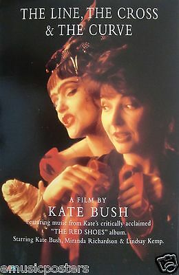 "KATE BUSH ""THE LINE, THE CROSS & THE CURVE"" U.K. PROMO POSTER -Progressive Music"