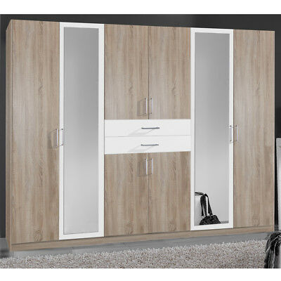 kleiderschrank diver in eiche s gerau und alpinwei schrank dreht renschrank 270 eur 335 95. Black Bedroom Furniture Sets. Home Design Ideas