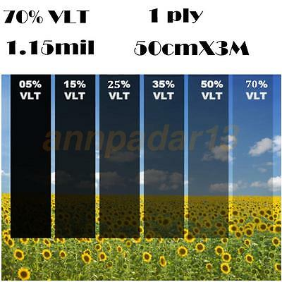 50cm*3M Black Glass Window Tint Film Shade VLT 70% Scratch Resistant Membrane