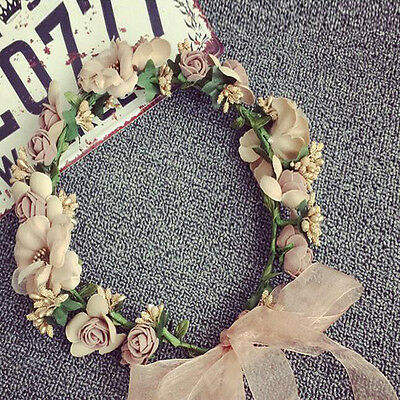 New Boho Flower Floral Women Hairband Headband Crown Party Bride Wedding Beach