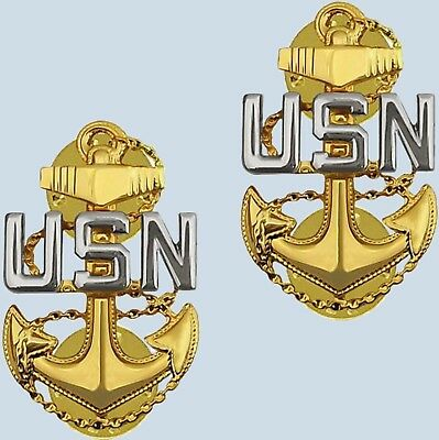 US Navy Collar Insignia E-7 Chief Petty Officer