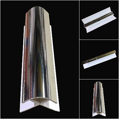 Silver 10mm Shower Wet Wall Trims For Bathroom Panels Cladding PVC Panels 2.4m