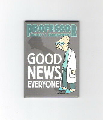 Futurama TV Series Professor Hubert J. Farnsworth Refrigerator Magnet, UNUSED