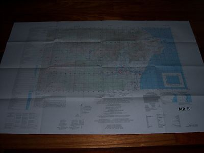"US ARMY Map Vietnam 1960 MR5 24"" X 36""  Ron"