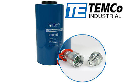 TEMCo Hollow Hydraulic Cylinder Ram 30 TON 4 In Stroke 5 YEAR Warranty