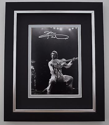 Pete Townshend SIGNED 10X8 FRAMED Photo Autograph Display Who Music AFTAL COA