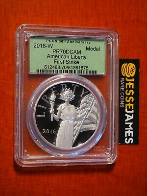 2016 W American Liberty Proof Silver Medal Pcgs Pr70 Dcam First Strike Uh9