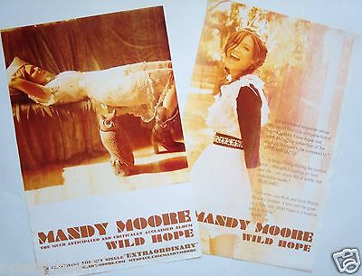 "MANDY MOORE ""WILD HOPE"" 2-SIDED U.S. PROMO POSTER-Actress/Model/Singer/Superstar"