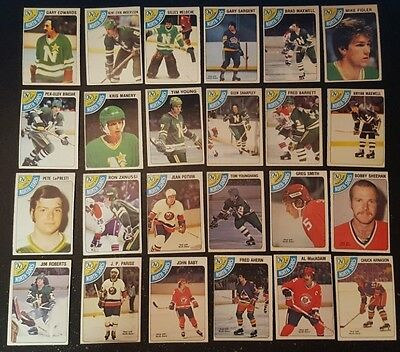 1978-79 OPC MINNESOTA NORTH STARS Select from LIST NHL HOCKEY CARDS O-PEE-CHEE