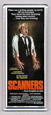 SCANNERS movie poster 'WIDE' FRIDGE MAGNET  -  CRONENBERG Horror Classic!