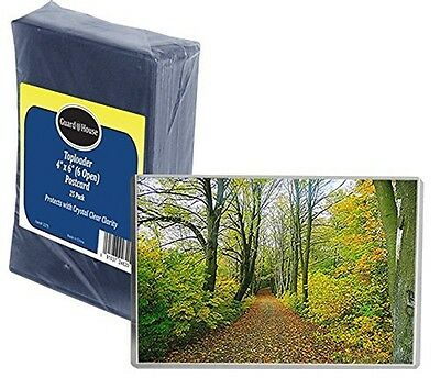 """Guardhouse Postcard & Photo Protective Sleeve Toploader - 6"""" x 4"""" - Pack of 25"""