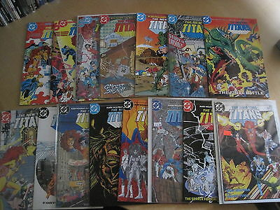 The New TEEN TITANS  #s 1 - 15 of the DC 1984 CLASSIC  SERIES by WOLFMAN & PEREZ