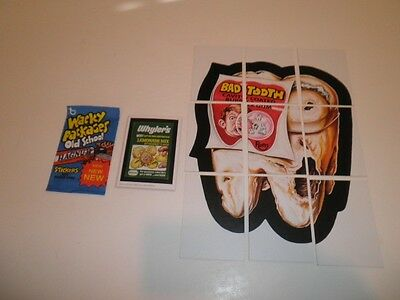 Topps Wacky Packages Old School Series 2 Base Set + Puzzle + Wrapper