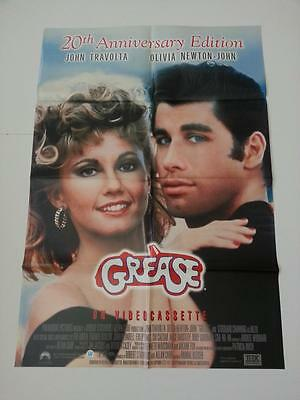 Grease (1978) Video One Sheet Movie Poster John Travolta Olivia Newton John 1998