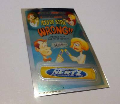 Topps Wacky Packages Chrome Nertz Candy Ad #19 2014 Series