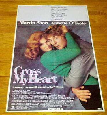 Cross My Heart Promo VHS One Sheet Movie Poster Annette O'Toole Martin Short