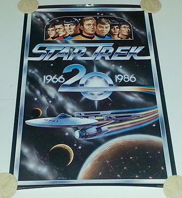 Star Trek 20th Anniversary Promo Litho Poster by BL Gibson 1986