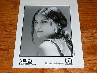 Nelly Furtado 8x10 BW Publicity Photo Dreamworks Records
