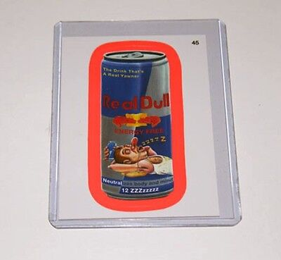 Wacky Packages ANS9 Real Dull #45 Pink Parallel Card