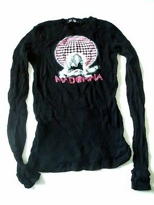 Madonna Discoball Confessions Dance Floor Black Sheer Thermal X-SMALL New