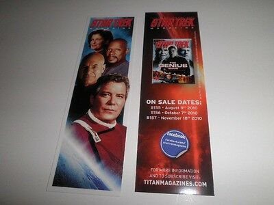 Star Trek Magazine Promo Bookmark Comic Con Shatner
