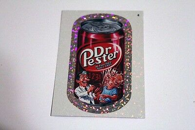 Topps Wacky Packages ANS8 Dr. Pester Soda #4 Silver Foil Card Mint