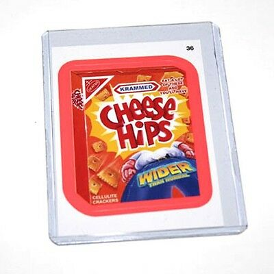 Wacky Packages ANS9 Cheese Hips #36 Pink Parallel Card