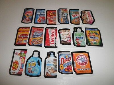 Topps Wacky Packages AN6 Lot of 17 Misc Stickers Cards New